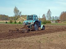 Field harrowing 2 Royalty Free Stock Images