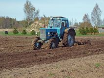 Field harrowing 3 Royalty Free Stock Photo