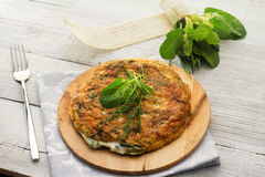 Field herbs omelette Stock Photography