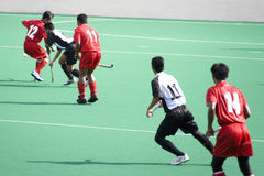 Field Hockey. Players in action Royalty Free Stock Images