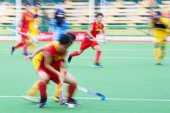Field Hockey Action (Blurred) Stock Image