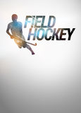 Field hockey background Stock Image