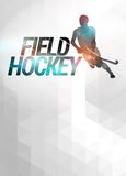 Field hockey background. Field hockey sport invitation poster or flyer background with empty space Royalty Free Stock Photography