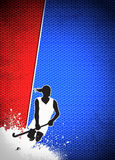 Field hockey background Stock Photography