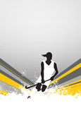 Field hockey background. Field hockey sport invitation poster or flyer background with empty space Stock Photos