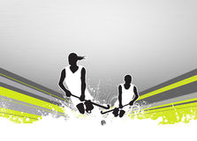 Field hockey background. Field hockey sport invitation poster or flyer background with empty space Royalty Free Stock Photos