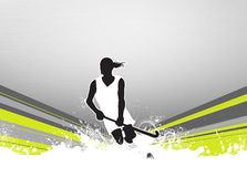 Field hockey background. Field hockey sport invitation poster or flyer background with empty space Stock Photography