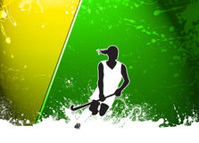Field hockey background. Field hockey sport invitation poster or flyer background with empty space Royalty Free Stock Images