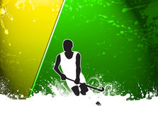 Field hockey background Royalty Free Stock Photography
