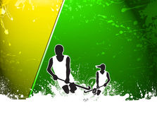 Field hockey background. Field hockey sport invitation poster or flyer background with empty space Stock Image