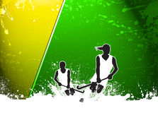Field hockey background Stock Images