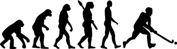 Field Hockey Evolution. Evolution of man playing field hockey Royalty Free Stock Photos