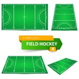 Field hockey - four items template. Vector eps 10 royalty free illustration