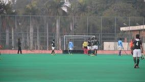 Field Hockey Goal on a Penalty Corner stock footage