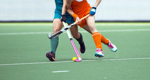 Field hockey match Royalty Free Stock Photo