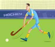Field Hockey Player. Cartoon style field hockey player in vector Stock Photography