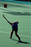 Field Hockey Player Silhouette Stock Image