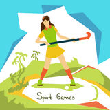Field Hockey Player Woman Athlete Sport Competition Stock Images