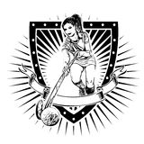 Field hockey shield Royalty Free Stock Photo