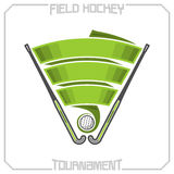 Field hockey tournament. Abstract image on the field hockey theme Royalty Free Stock Photography