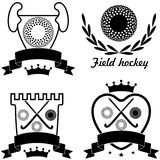 Field hockey. Vector illustration (EPS 10 Stock Photography