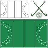 Field hockey. Vector illustration (EPS 10 Stock Photo