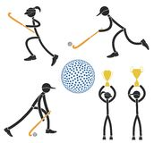 Field hockey. Vector illustration (EPS 10 Royalty Free Stock Images