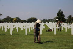 Field of honour Bandung. In Indonesia Stock Image