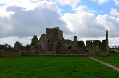The field with Hore Abbey Ruins Royalty Free Stock Photos