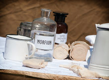 Field hospital equipment Royalty Free Stock Images