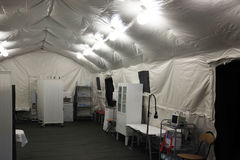 Field hospital tent Royalty Free Stock Photography