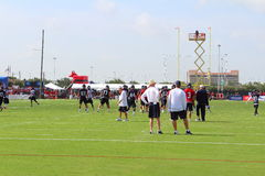 On the field at Houston Texans training camp in 2014. Royalty Free Stock Photos