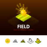 Field icon in different style Stock Photo