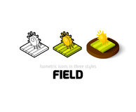 Field icon in different style Stock Images