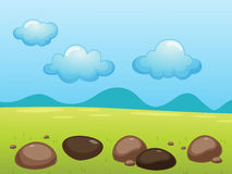 Field. Illustration of rocks in a field Stock Photography