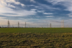 Field and industrial constructions Royalty Free Stock Photos