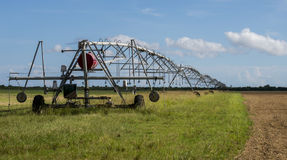 Field irrigation system Stock Images