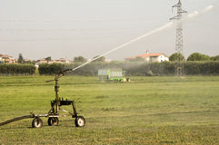 Field irrigator Royalty Free Stock Image