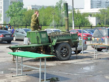 Field kitchen on the Victory Day holiday, 2012 Stock Photos
