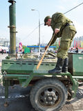 Field kitchen on the Victory Day holiday, 2012 Stock Images