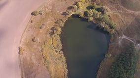 Field lake stock video