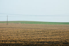 Field of land under cultivation Royalty Free Stock Photography