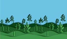 Field landscape digital crafts. Vector illustration design Royalty Free Stock Photography