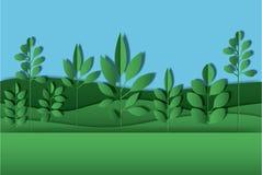 Field landscape digital crafts. Vector illustration design Stock Image