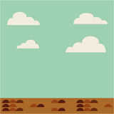 Field landscape isolated icon. Illustration design Stock Photos