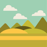 Field landscape isolated icon. Illustration design Stock Photography