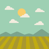 Field landscape isolated icon. Illustration design Royalty Free Stock Photos