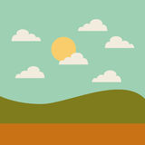 Field landscape isolated icon. Illustration design Royalty Free Stock Photography