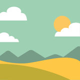Field landscape isolated icon. Illustration design Royalty Free Stock Photo