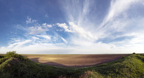 Field landscape in Serbia Royalty Free Stock Image